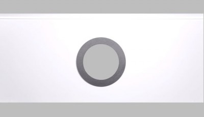 ROUND WINDOW IN SECTION WITH DIAMETER OF 290 MM